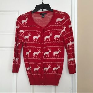 Deer Printed Cardigan